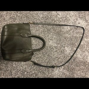 Olive green cross-body purse